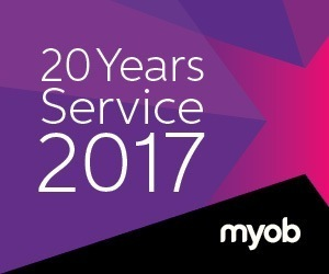 MYOB 20 years service award 2017
